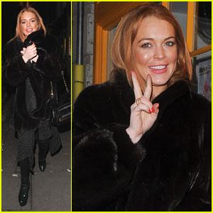Lindsay Lohan Enjoys the Nightlife in London!
