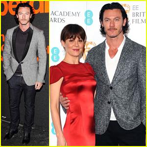 Luke Evans & Helen McCrory: BAFTA 2014 Film Awards Nominations Photo Call!