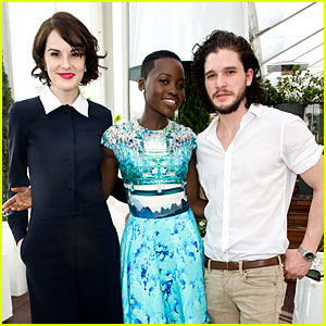 Lupita Nyong'o: 'DuJour' Cover Party with Michelle Dockery!