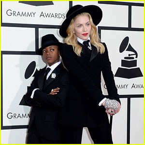 Madonna: Grammys 2014 Red Carpet with Son David!