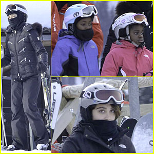 Madonna Skis Through New Year with the Kids!