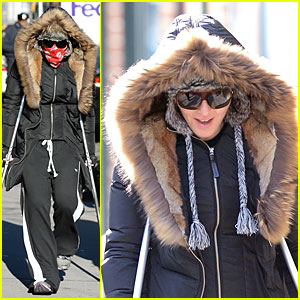 Madonna Steps Out in Crutches After Grammy Performing Rumors