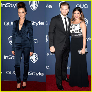 Maggie Q & Jamie-Lynn Sigler - InStyle Golden Globes Party 2014