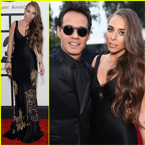 Marc Anthony & Chloe Green - Grammys 2014 Red Carpet