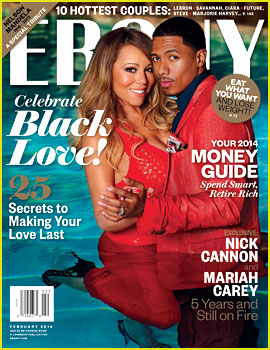 Mariah Carey & Nick Cannon Dip in the Pool for 'Ebony' Mag