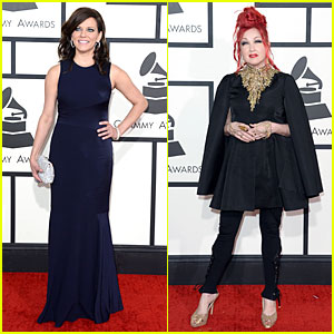 Martina McBride & Cyndi Lauper - Grammys 2014 Red Carpet