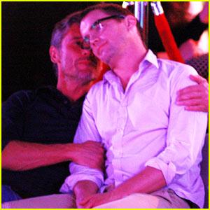 Matt Bomer Cuddles with Simon Halls at Cabo Birthday Celebration
