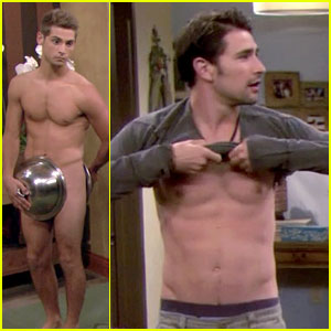 Matt Dallas Goes Shirtless for 'Baby Daddy' - See the Hot Pics!