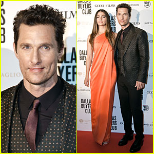 Matthew McConaughey: 'Dallas' Rome Premiere with Camila Alves!