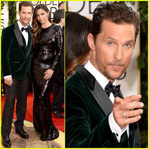 Matthew McConaughey: Golden Globes 2014 with Camila Alves