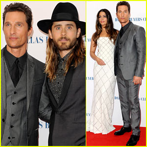 Matthew McConaughey & Jared Leto Reunite for 'Dallas Buyers Club' UK Premiere!