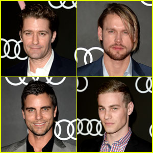 Matthew Morrison & Chord Overstreet: Pre-Globes Party Guys!