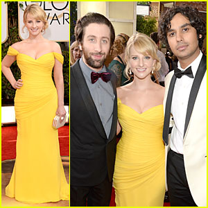 Melissa Rauch & Kunal Nayyar - Golden Globes 2014