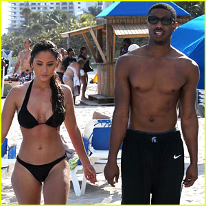 Michael B. Jordan: Shirtless Beach Stroll with Mystery Girl!