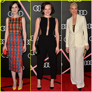 Michelle Dockery & Elisabeth Moss: Audi's Golden Globes Party!