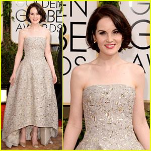 Michelle Dockery - Golden Globes 2014 Red Carpet