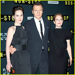 Michelle Dockery & Julianne Moore: 'Non-Stop' Paris Premiere!
