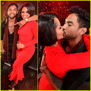 Miguel & Girlfriend Nazanin Mandi: New Year's Eve Kiss!