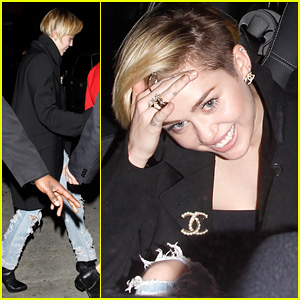 Miley Cyrus: Warwick Night Out After New Year's!