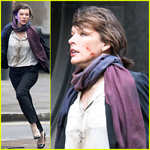 Milla Jovovich: Bloody Running Scenes for 'Survivor'!