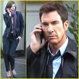 Milla Jovovich & Dylan McDermott Film 'Survivor' in London