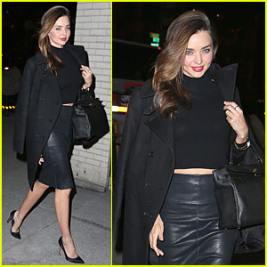 Miranda Kerr Bares Midriff to Wrap Up January!