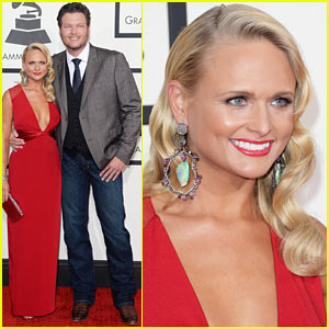 Miranda Lambert & Blake Shelton - Grammys 2014 Red Carpet