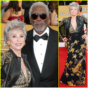 Rita Moreno & Morgan Freeman - SAG Awards 2014 Red Carpet