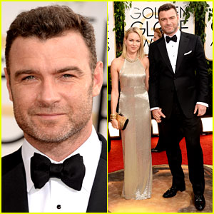 Naomi Watts & Liev Schreiber - Golden Globes 2014 Red Carpet