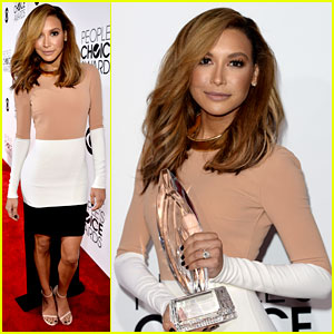 Naya Rivera Goes Blonde at People's Choice Awards 2014!
