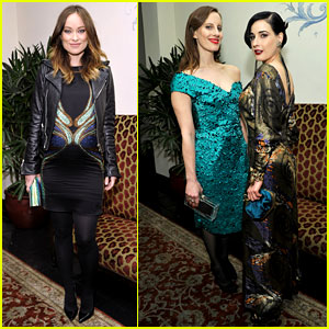 Olivia Wilde Flaunts Baby Bump at Pre-Golden Globes Party!