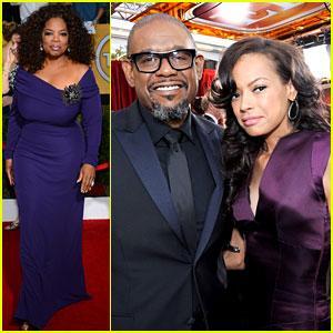 Oprah Winfrey & Forest Whitaker - SAG Awards 2014 Red Carpet