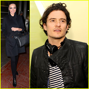 Orlando Bloom & Miranda Kerr Step Out Separately After His New & Reportedly False Romance Rumors