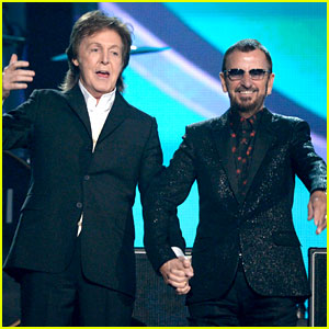 Paul McCartney & Ringo Starr Reunite at Grammys 2014 (Video)