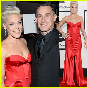 Pink: Grammys 2014 Red Carpet with Carey Hart!
