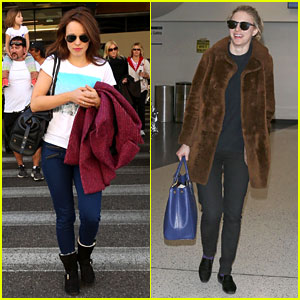 Rachel McAdams & Brit Marling Fly Back to L.A. After Sundance!