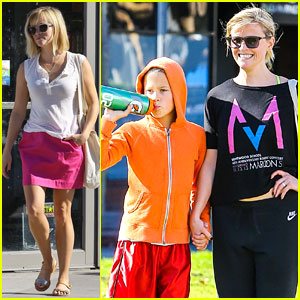 Reese Witherspoon: Busy Saturday with Son Deacon!