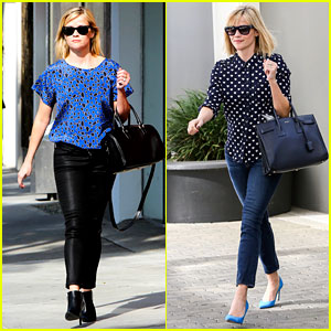 Reese Witherspoon Keeps Busy with Shopping & Meetings!