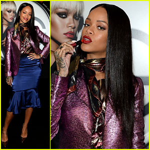Rihanna Launches Her Viva Glam Cosmetics Line in New York!