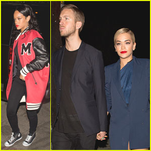 Rihanna & Rita Ora: Pre-Grammy's 1 Oak Night Out with Drake