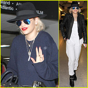 Rita Ora: Hat Sporting Airport Arrivals!