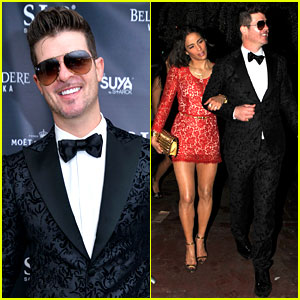Robin Thicke & Paula Patton: New Year's Eve 2014 in Miami!