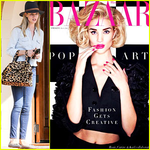 Rosie Huntington-Whiteley Shares Another 'Harpers Bazaar' Cover!