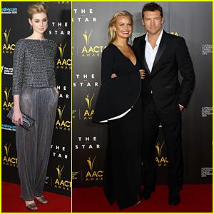 Sam Worthington & Lara Bingle - AACTA Awards Ceremony 2014 Red Carpet