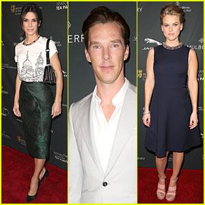 Sandra Bullock & Benedict Cumberbatch - BAFTA Tea Party 2014