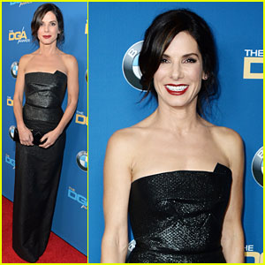 Sandra Bullock Supports Alfonso Cuaron at DGA Awards 2014!