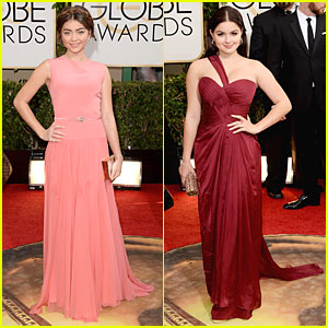 Sarah Hyland & Ariel Winter - Golden Globes 2014 Red Carpet