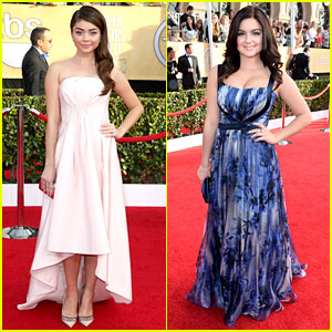 Sarah Hyland & Ariel Winter – Golden Globes 2014 Red Carpet | 2014 ...