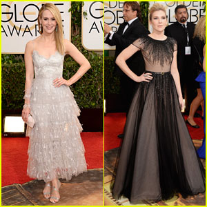 Sarah Paulson & Lily Rabe - Golden Globes 2014 Red Carpet