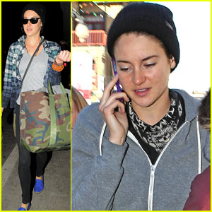 Shailene Woodley Arrives Back in LA After Sundance